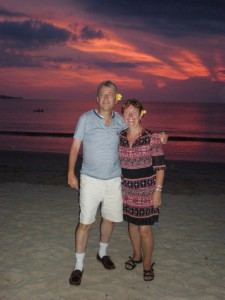 What about that sunset! We love Bali! Helen and Geoff