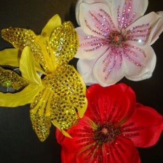 Diamante flowers