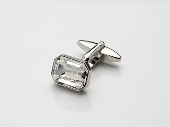 diamante cufflinks rectangle