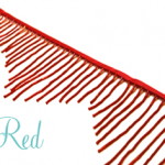 Bugle beaded fringe - Red